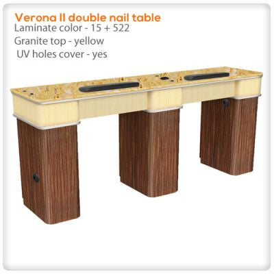 Verona II double nail table