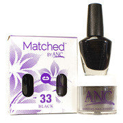 #33 Black Polish and Powder Combo