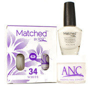 #34 White Polish and Powder Combo