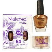 #54 Metallic Bronze Polish and Powder Combo