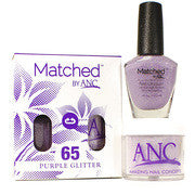 #65 Purple Glitter Polish and Powder Combo