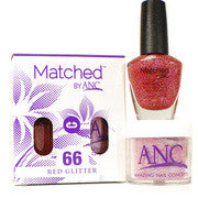 #66 Red Glitter Polish and Powder Combo