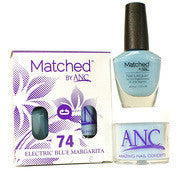 #74 Electric Blue Margarita Polish and Powder Combo