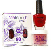 #90 Red Rose Polish and Powder Combo