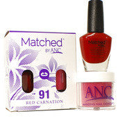 #91 Red Carnation Polish and Powder Combo