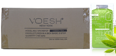 VOESH CASE/100PKS - PEDI IN A BOX - 3 STEP BASIC - GREEN TEA