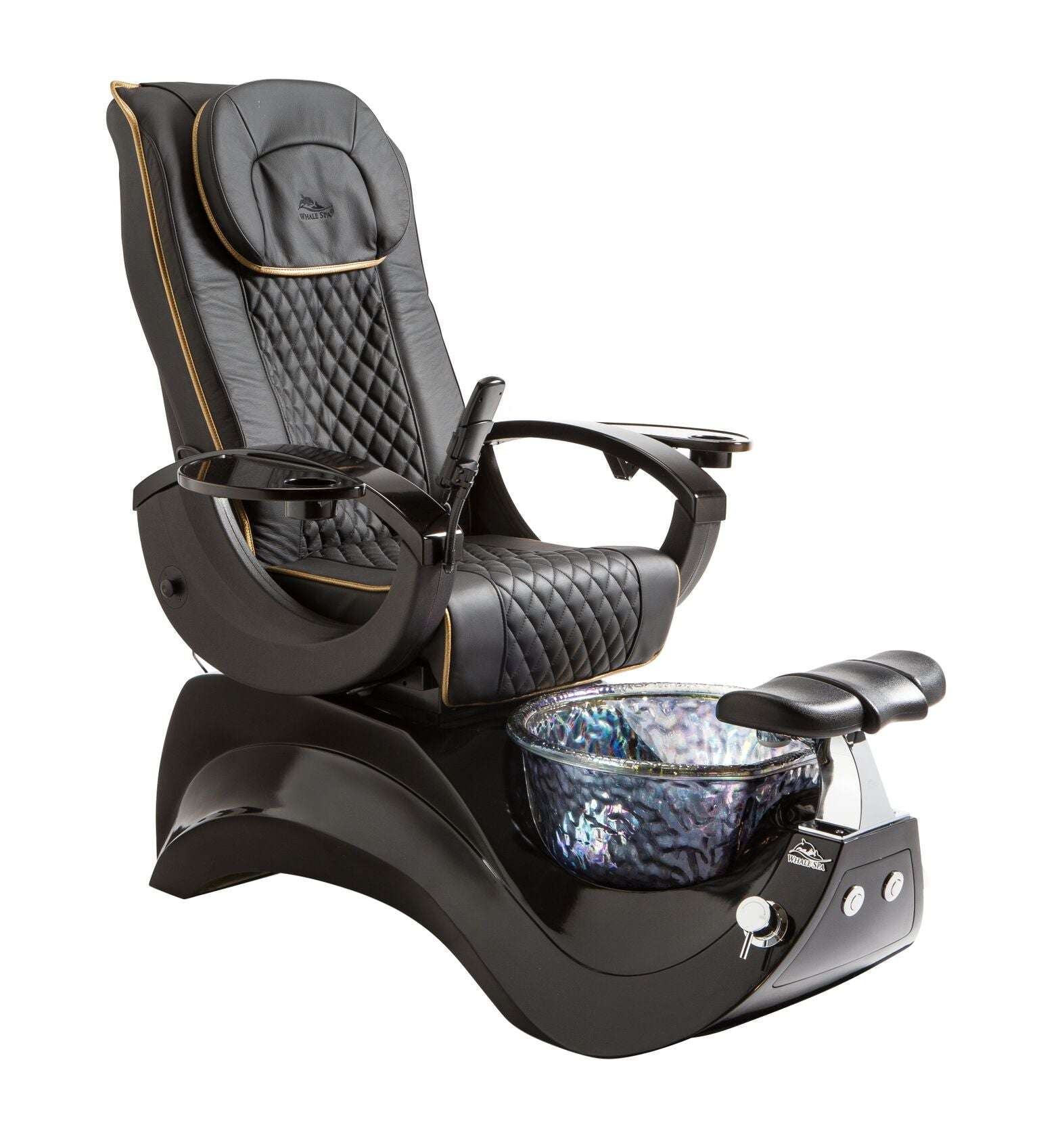 ... Whale Spa - Alden Crystal Pedicure Spa Chair With Premium Leather ...  sc 1 st  Lee Nail Supply & Whale Spa - Alden Crystal Pedicure Spa Chair