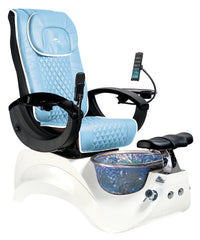 Whale Spa - Alden Crystal Pedicure Spa Chair With Premium Leather