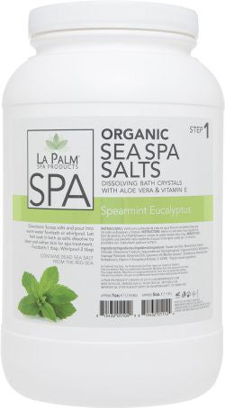 ORGANIC  SEA SPA SALTS Spearmint Eucalyptus