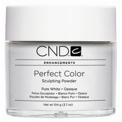 Acrylic Powder - CND Perfect Color Sculpting Powder Pure White - Opaque