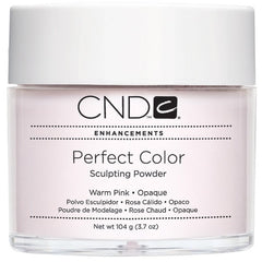 Acrylic Powder - CND Perfect Color Sculpting Powder Warm Pink - Opaque