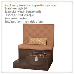 Bench Spa Chairs - Gulfstream - Kimberly Bench - Pedicure Spa Chair