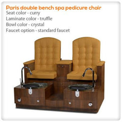Bench Spa Chairs - Gulfstream - Paris Double Bench - Pedicure Spa Chair