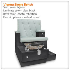 Bench Spa Chairs - Gulfstream-Vienna Single Bench