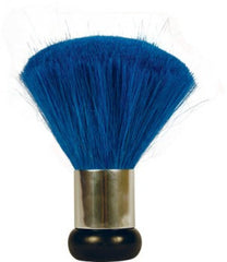 Dusters - Nail Powder Dust Brush With Silver Ring - Medium - Blue