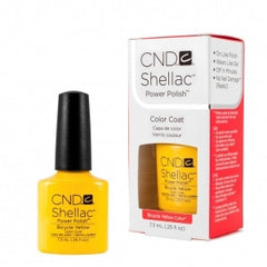 Gel Nails - CND Shellac Bicycle Yellow