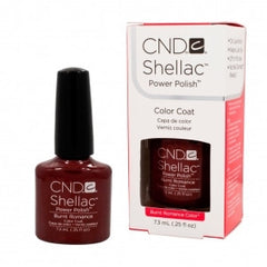 Gel Nails - CND Shellac Burnt Romance