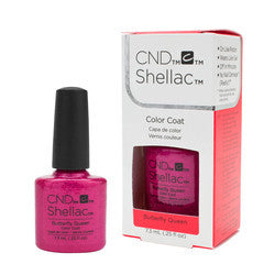 Gel Nails - CND Shellac Butterfly Queen