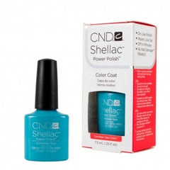 Gel Nails - CND Shellac Cerulean Sea