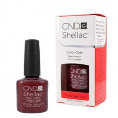 Gel Nails - CND Shellac Crimson Sash