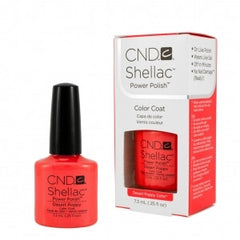 Gel Nails - CND Shellac Desert Poppy