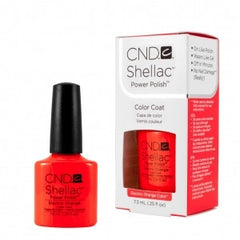 Gel Nails - CND Shellac Electric Orange