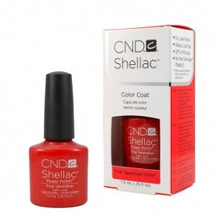 Gel Nails - CND Shellac Fine Vermilion Red