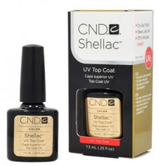 Gel Nails - CND Shellac Gel Polish TOP COAT - 0.25 Oz