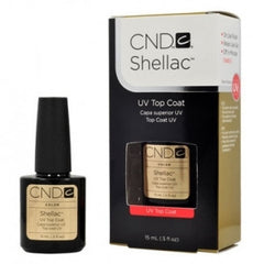 Gel Nails - CND Shellac Gel Polish TOP COAT - 0.5 Oz LARGE Size