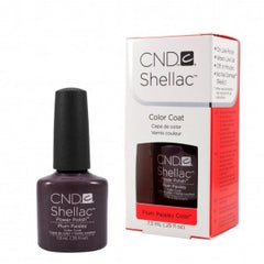 Gel Nails - CND Shellac Plum Paisley
