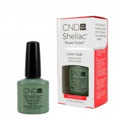 Gel Nails - CND Shellac Sage Scarf