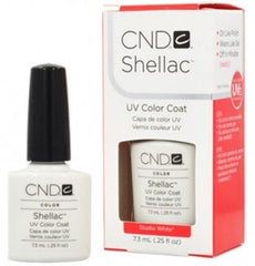 Gel Nails - CND Shellac Studio White