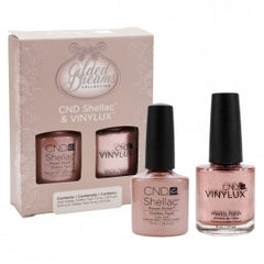 Gel Nails - CND Vinylux Duo Set Nail Polish Gilded Dreams Chiffon Twirl
