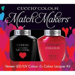 Gel Nails - Cuccio Colour Veneer - Red Lights In Amsterdam