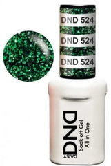 Gel Nails - DND - Green To Green
