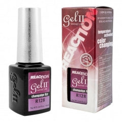 Gel Nails - GEL II Reaction Color Change Nail Polish Purple Champagne Frizz
