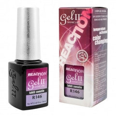 Gel Nails - GEL II REMIX Reaction Color Changing Nail Polish Tahiti Sweetie