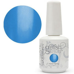 Gel Nails - Gelish Neon Ooba Ooba Blue Gel Nail