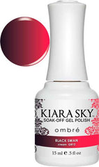 Gel Nails - Kiara Sky Gel Polish - Black Swan