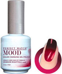 Gel Nails - Mood - Crimson Nightfall