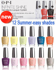 Gel Nails - OPI INFINITE SHINE, SUMMER COLLECTION 2015