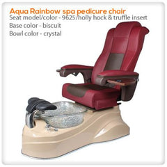 Glass Sink Spas - Aqua Rainbow Pedicure Spa Chair
