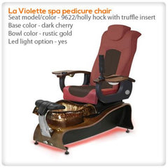 Glass Sink Spas - Gulfstream - La Violette - Pedicure Spa Chair