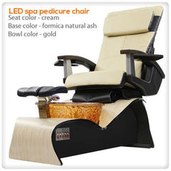 Glass Sink Spas - Lee Nail Supply - LED Spa Pedicure Chair Smart Feature With Remote & Vented