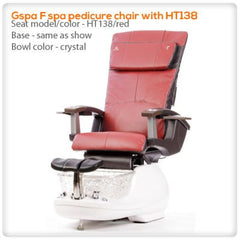 Glass Sink Spas - T4-Gspa F Spa Pedicure Chair With HT138