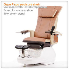 Glass Sink Spas - T4-Gspa F Spa Pedicure Chair With HTxT4