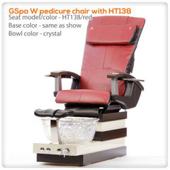 Glass Sink Spas - T4-GSpa W Pedicure Chair With HT138
