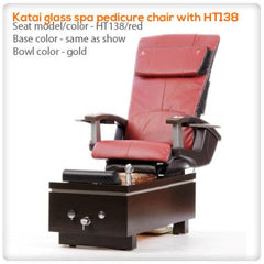 Glass Sink Spas - T4-Katai Glass Spa Pedicure Chair With HT138