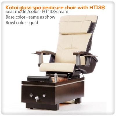 t4-Katai glass spa pedicure chair with HT138