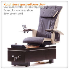 Glass Sink Spas - T4-Katai Glass Spa Pedicure Chair With HTxT4